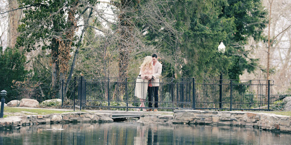 engagement photos at garden park ward