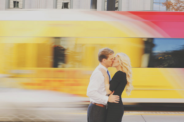 engagement photos train salt lake city