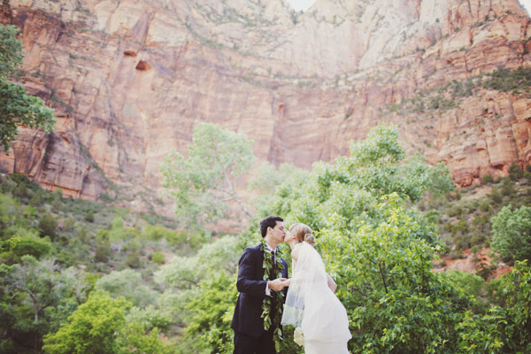 zion destination wedding photos