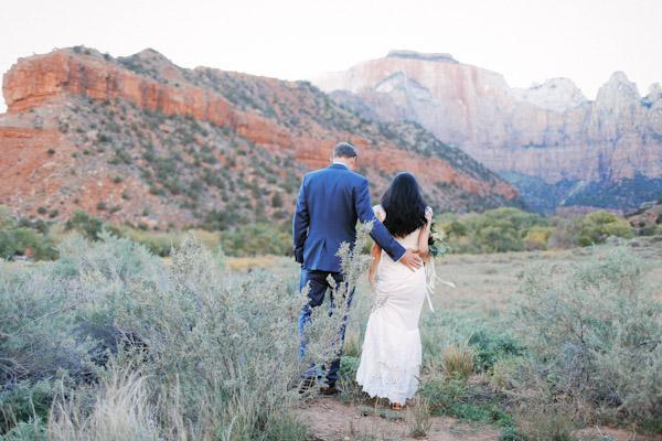 wedding in zion national park
