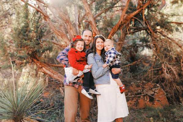 family photos in zion national park