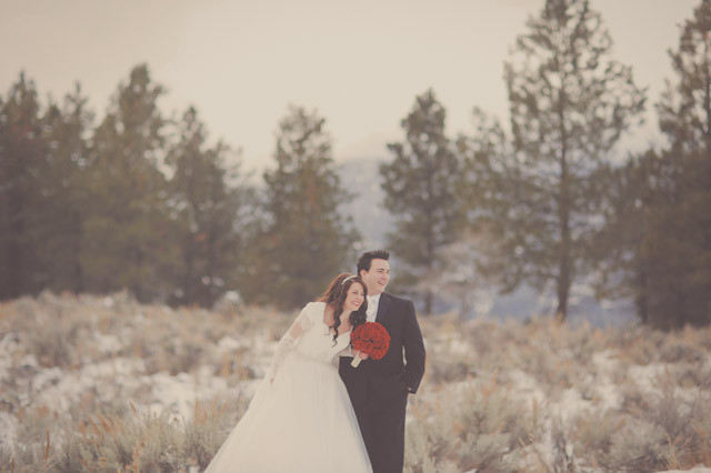 pine valley snow bridal photos