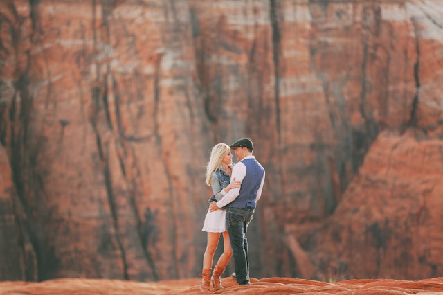 southern utah engagement photos