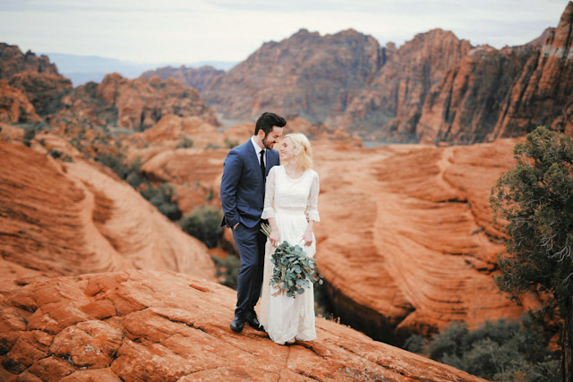 Moss Redrock Desert Bridal Amazing 0802 Utah Wedding