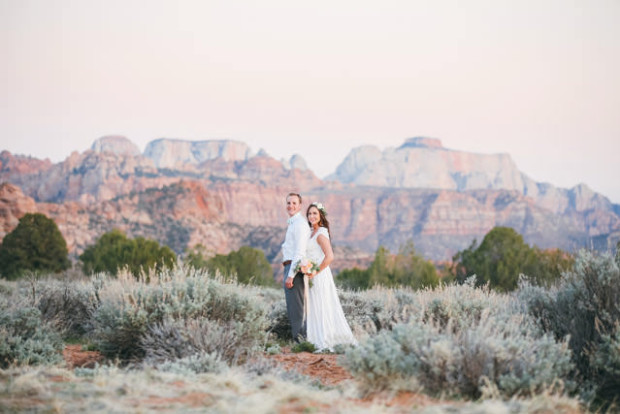 wedding in zion national park at true north