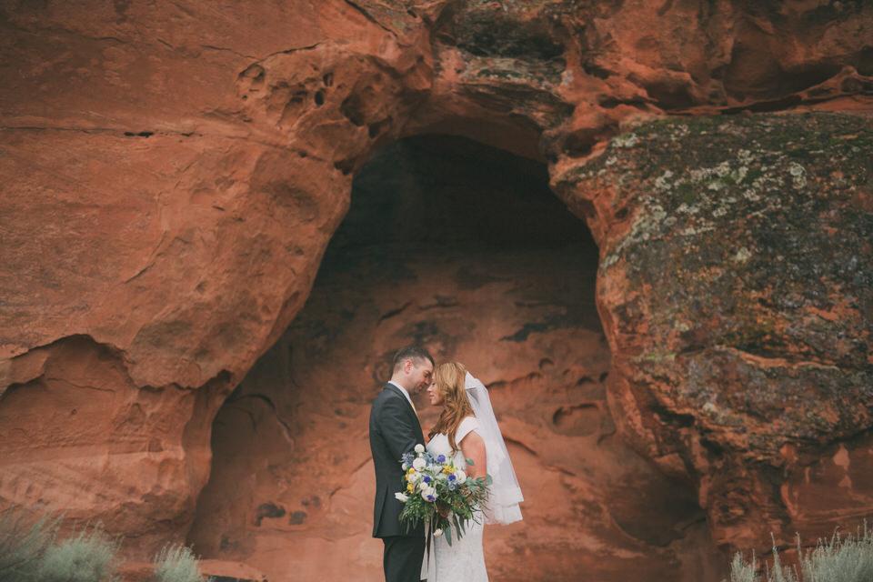 Rainy Day Snow Canyon Wedding Afton Bryan