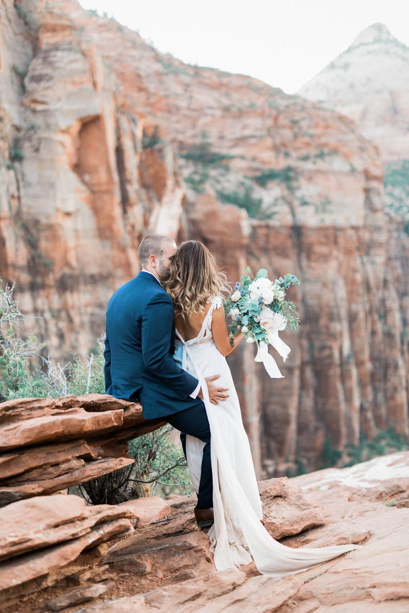 Zion Overlook Wedding National Park