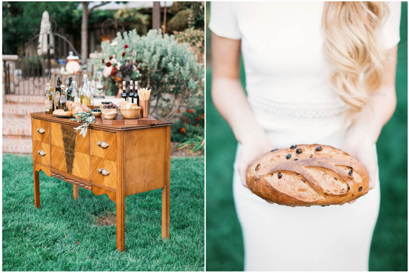 bride holding bread, st george wedding, wedding photography, design ideas, wedding inspiration, olive oil wedding, olive oil bar, engineering wedding theme, timeless wedding, elegant wedding, southern utah, wedding