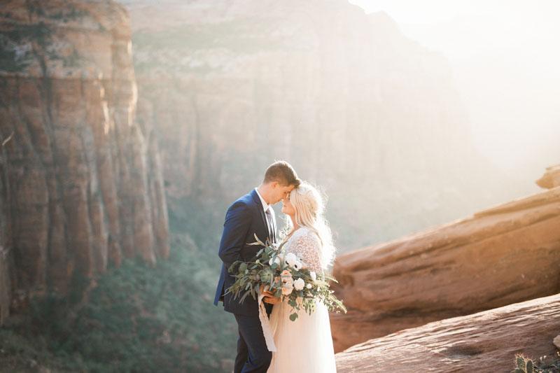 zion canyon wedding, zion overlook wedding, zion wedding, zion elopement, zion wedding photographer, zion national park wedding