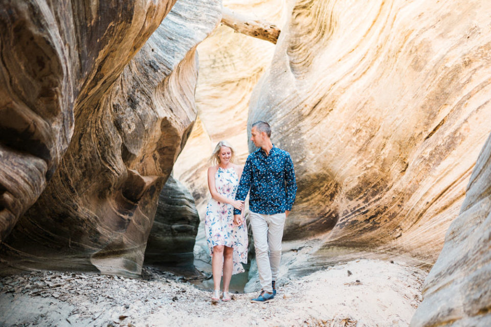 zion engagement, zion proposal, zion wedding photographer, zion photographer, zion slot canyon