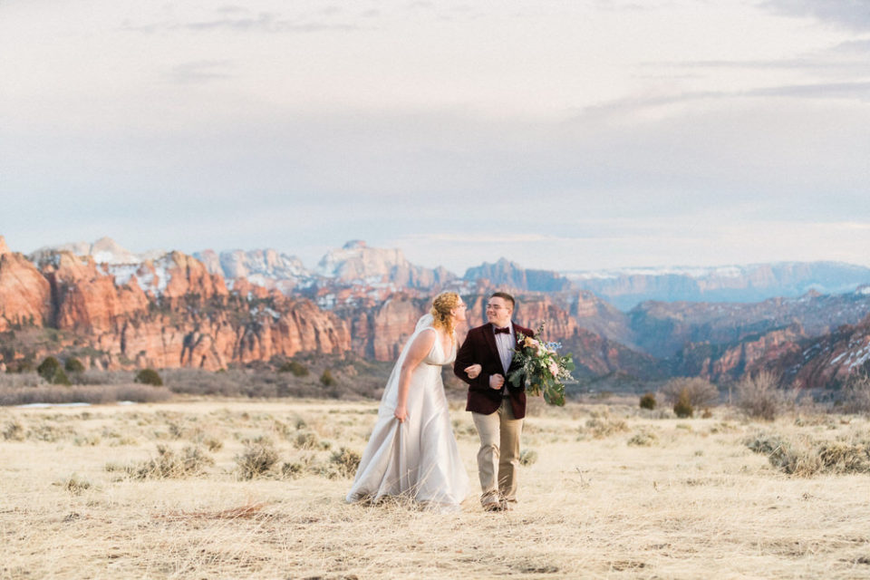 zion kolob overlook wedding, zion wedding, kola road wedding, zion elopement