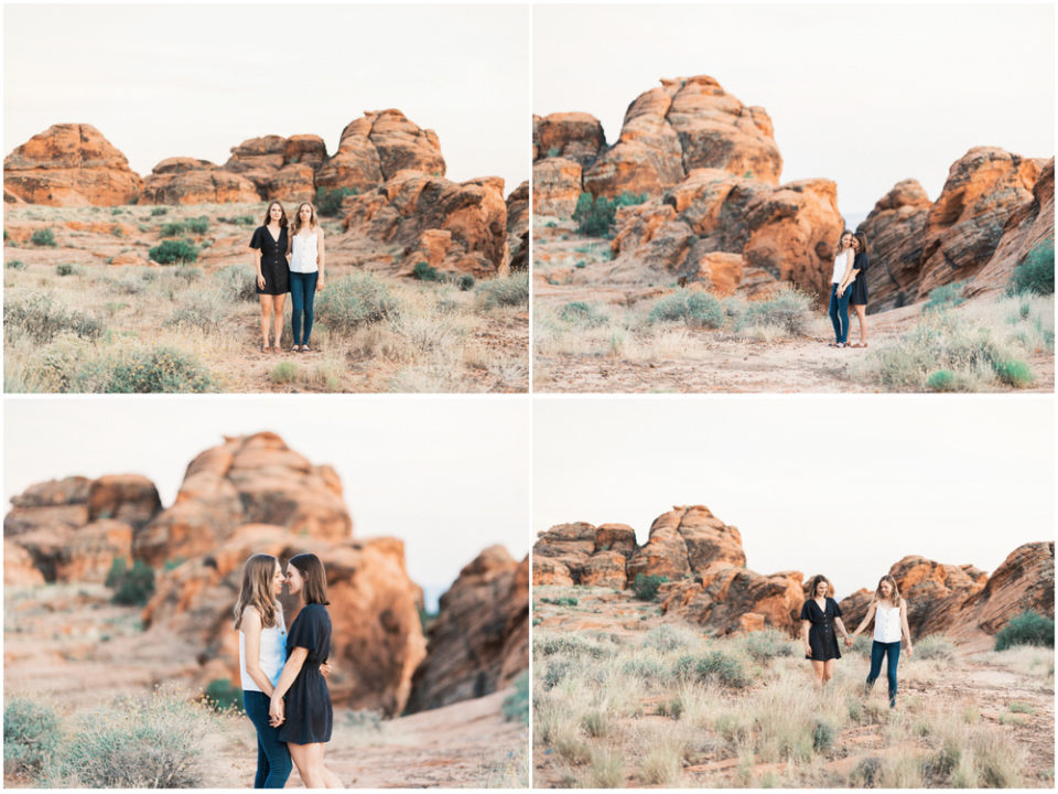 lesbian engagement, same sex engagement, same sex zion wedding, same sex snow canyon wedding, zion engagement
